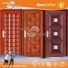 Porte en acier de fer de garantie extérieure/porte en métal entrée principale