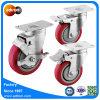 100mm PUの任意選択ブレーキが付いている上の版の旋回装置の車輪の足車