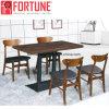 La Tabella pranzante del ristorante di legno industriale moderno più popolare ha impostato 4 presidenze (FOH-BCA16)