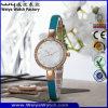ODM de Polshorloges van de Dames van de Manier van het Kwarts van het Horloge van de Riem van het Leer (wy-075C)