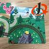 Kind-Raum-Karikatur-Teppich-Wolldecke-Tierdruck-Wolldecke-Polypropylen-Drucken-Wolldecken 100%