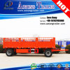Full Type Flatbed 2 Ejes Remolque Draw Bar Cargo Remolque
