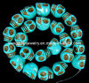 [إكسغ-لك040] مجوهرات نتيجة بحث زرقاء فيروز ينظم جمجمة خرز سائب