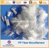 Fibra estándar tajada de la fibra de los PP del polipropileno del corte corto para el concreto