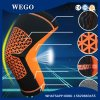 Funcionamiento elástico del baloncesto del deporte de las rodilleras de la paréntesis del soporte de la rodilla de la funda de la compresión