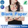 Documento in bianco del tatuaggio provvisorio con i certificati di Ce/RoHS/Reach