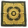 Шарф квадрата сатинировки золота напечатанный цветом Silk (HQ11)
