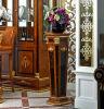 Die 0038 Import-Buche-feste das Holz, das eigenhändig geschnitzt wird, redet Blumen-Standplatz an