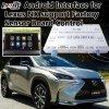 Twee-in-één Androïde Interface van de Navigatie voor OEM van de Steun van Lexus Nx van 2014-2017 de Controle van de Knoop