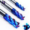 Gek série HRC 65 Forfessional Fabrication Solid Carbide 4 flûtes fin Mills avec une haute qualité