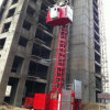 Ce Hsjj jaula doble 2t de capacidad de la construcción ascensor a la venta