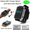 Adultos y ancianos GPS Tracker ver con la frecuencia cardíaca y la alarma de la Píldora Y16