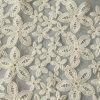 オーガンジーのオフホワイトの綿の刺繍の生地