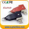 Luxuxschwenker/Torsion ledernes USB-Blitz-Laufwerk 1GB-64GB (EL-010)