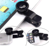 Últimas 3 en 1 ojo de pez Ojo de pez de vidrio de gran angular de lente Macro lentes para teléfono móvil iPhone Samsung Lente ojo de pez