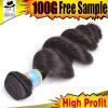 Trame brésilienne de cheveu de couleur noire de Kabeilu