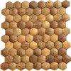 壁の装飾の自然なココナッツシェルのモザイクデザインココヤシのモザイクのため