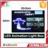 Parede que pendura a caixa leve do flash acrílico ultra fino da animação do diodo emissor de luz