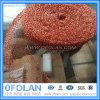 Maille liquide tricotée de câblage cuivre de filtre de gaz pour le filtre liquide