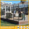 Rete fissa di vetro dell'inferriata di vetro della balaustra dell'alberino per il balcone/cortile