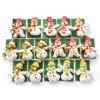 Bonhomme de neige le père noël de décoration de Noël de figurine de Noël blanc