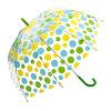 4color新しい傘創造的なパラソル長のかわいく新しいPVC透過きのこのポルカドットのアーチの傘の子供か雨傘