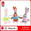 O brinquedo macio do coelho do luxuoso do coelho do brinquedo para o brinquedo de Easter encheu