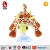Animal mignon de giraffe de jouet de peluche avec le pacificateur de Teether de bébé de silicones