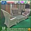Insiemi di Armcharirs 1+1+2 insiemi di vimini bianchi della mobilia degli insiemi del tavolino da salotto per esterno