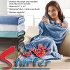 染まったSuper-Soft反Pilling平野は100%年のポリエステル珊瑚の羊毛毛布を編んだ