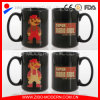 Tazza di ceramica del nero di stampa di marchio personalizzata commercio all'ingrosso/tazza di sublimazione per la promozione