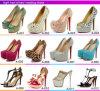 2015最新のBrand Design高いEnd Shining Leather Material Woman High Heel Shoes Shoes (C-137)