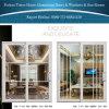 Portes coulissantes en aluminium intérieures blanches pures avec la décoration