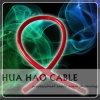 Красный прозрачный полихлорвиниловая оболочка медь/ОСО 0AWG автомобильный кабель питания