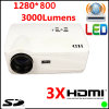 Androïde WiFi Projector LCD 3000 Lumen