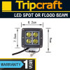 20W CREE 1700lm 6000k Waterproof IP67 Flood Spot LED Work Light
