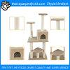 L'animale domestico del gattino dei giocattoli della base del centro di attività protegge l'albero felice del gatto dell'animale domestico