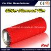 Color rojo brillante película Diamante Diamante Pearlized Carrocería vinilo