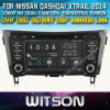 Reprodutor de DVD do carro de Witson para Nissan Qashqai/Xtrail 2014 com sustentação do Internet DVR da ROM WiFi 3G do chipset 1080P 8g