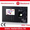 Sistema biométrico de la atención del tiempo de la huella digital del programa de lectura de RFID