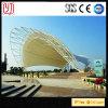 Estructura de acero de la durabilidad del estadio de la membrana de PVDF de la azotea impermeable blanca del toldo