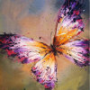 2015 neu und Hot Item Low Price Highquality Hand Paint Butterfly Oil Picture auf Canvas für Home Wall Decoration