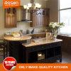 Design vermelho estilo clássico em madeira sólida Armários de cozinha