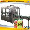 Lavado automático de llenado en caliente el jugo de fruta Máquina Tapadora