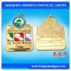 Medalla de oro plateada Castom excelente del metal de la calidad con el rectángulo de la medalla