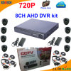 8 Kanal Ahd DVR Kit mit 720p Dome Camera