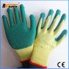 Le tricot de coton Latex ondulée Gants enduits de gants de sécurité au travail de travail
