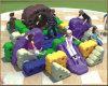 Строительные блоки уникально детей Kaiqi модульные и игрушки спортивной площадки для школ (KQ50128F)