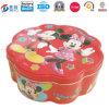Verpacken- der Lebensmittelfirma-Zinn-Kasten mit Blume formte
