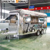 Cer-Bescheinigungs-Kaffee-Verkauf-Zugeständnis-Standplatz-Luftstrom-Nahrungsmittelwohnwagen-Schlussteil